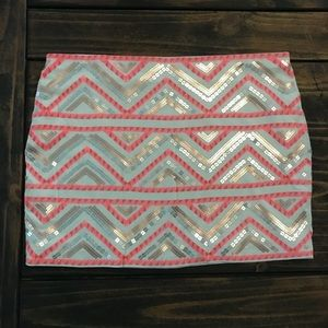 | Express | Geometric Sequin Mini Skirt